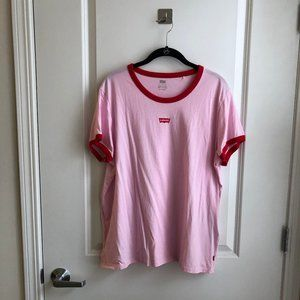 Levi's Red and Pink Ringer Tee